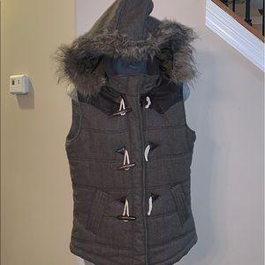 Ci Sono brown tweed vest